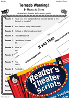 Tornado Warning! Reader's Theater Script and Lesson