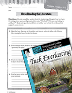 Tuck Everlasting Close Reading and Text-Dependent Question