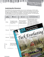 Tuck Everlasting Leveled Comprehension Questions (Great Works Series)