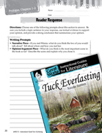 Tuck Everlasting Reader Response Writing Prompts (Great Works Series)