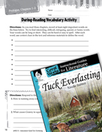 Tuck Everlasting Vocabulary Activities (Great Works Series)