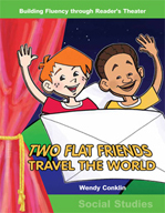Two Flat Friends Travel the World - Reader's Theater Script and Fluency Lesson