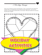 Valentine's Day Activities - Love Bookmark, Necklace, and Other Themed Activities