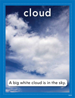 Vocabulary Concept Cards - Cloud and Fog