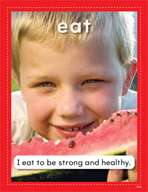 Vocabulary Concept Cards - Eat and Sleep