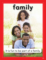 Vocabulary Concept Cards - Family and Home