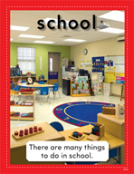 Vocabulary Concept Cards - School and Play