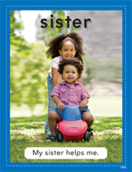 Vocabulary Concept Cards - Sister and Brother