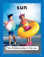 Vocabulary Concept Cards - Sun and Wind