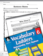 Vocabulary Ladder for Amount of Something