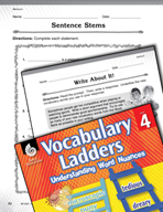 Vocabulary Ladder for Behavior