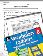 Vocabulary Ladder for Direction of Travel