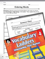 Vocabulary Ladder for Energy