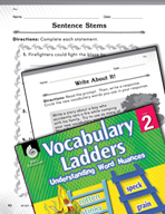 Vocabulary Ladder for Fire