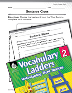 Vocabulary Ladder for Force of Hitting an Object