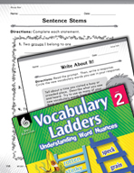 Vocabulary Ladder for Group Size
