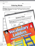 Vocabulary Ladder for Hiding and Showing
