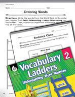 Vocabulary Ladder for Level of Interest