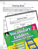 Vocabulary Ladder for Making