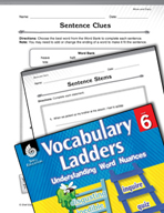 Vocabulary Ladder for Move and Carry