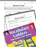 Vocabulary Ladder for Movements