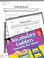 Vocabulary Ladder for Piece of Something