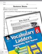 Vocabulary Ladder for Produce