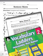 Vocabulary Ladder for Rain