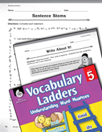 Vocabulary Ladder for Showing Emotion