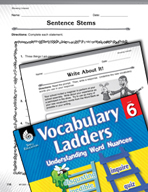 Vocabulary Ladder for Showing Interest