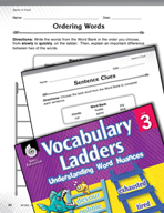 Vocabulary Ladder for Speed of Travel