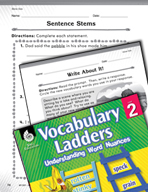 Vocabulary Ladder for Stone Size