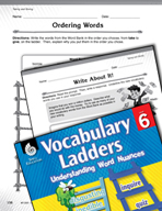 Vocabulary Ladder for Taking and Giving