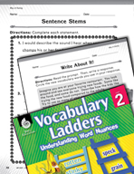 Vocabulary Ladder for Way of Eating