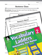 Vocabulary Ladder for Weather