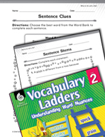 Vocabulary Ladder for What to Do with a Ball