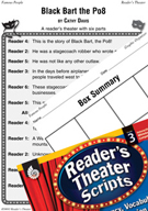 Western Movement-Black Bart the Po8 Reader's Theater Script and Lesson