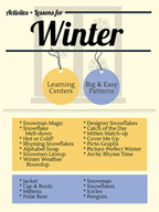 Winter Activities and Patterns for Grades PK-2