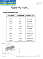 Word Awareness: Blending Words into Compound Words - Guess My Word