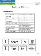 Word Awareness: Segmenting Sentences into Words - Sentence Strips