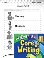 Writing Lesson Level 1 - Building Sentences Subjects