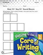 Writing Lesson Level 1 - Hear It! Say It! Sound Boxes