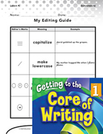 Writing Lesson Level 1 - My Editing Guide