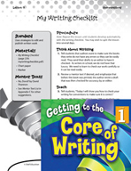 Writing Lesson Level 1 - My Writing Checklist