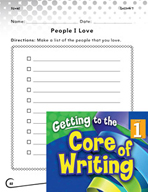 Writing Lesson Level 1 - People I Love