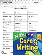 Writing Lesson Level 1 - Super Sentence Stems