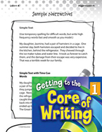 Writing Lesson Level 1 - Tell, Sketch, and Write Narrative Text