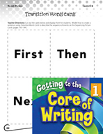 Writing Lesson Level 1 - Transition Words