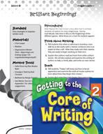 Writing Lesson Level 2 - Brilliant Beginnings