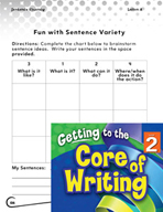 Writing Lesson Level 2 - Fun with Sentence Variety